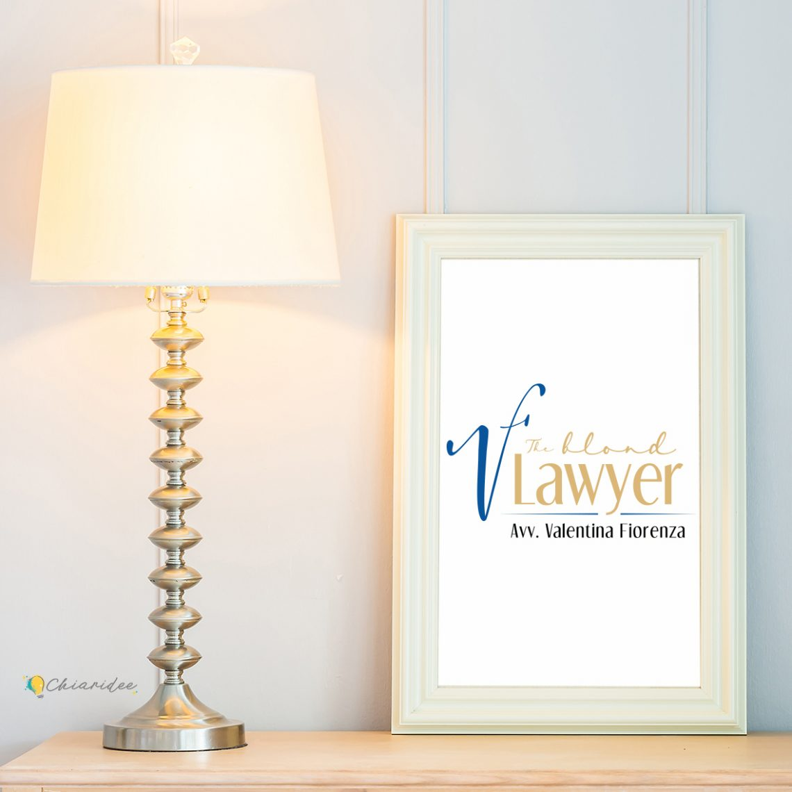 The blond lawyer logo